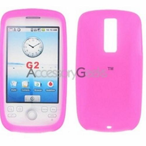 T-Mobile MyTouch 3G Silicone Case, Rubber Skin - Magenta