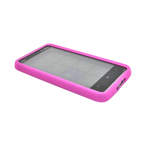 HTC HD7 / HTC HD7s Silicone Case, Rubber Skin - Hot Pink