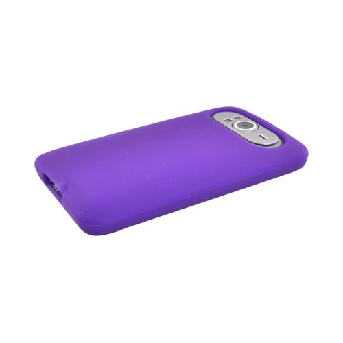HTC HD7 / HTC HD7s Silicone Case, Rubber Skin - Purple