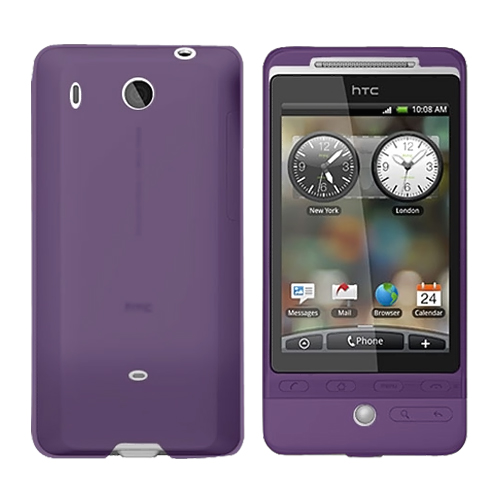 HTC Hero (GSM) Silicone Case, Rubber Skin - Purple