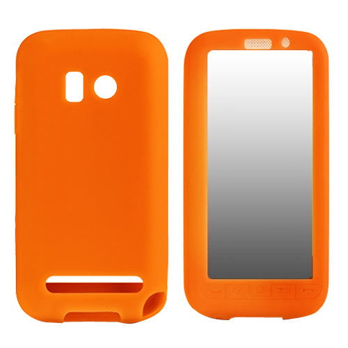 Verizon HTC Imagio Silicone Case, Rubber Skin - Orange