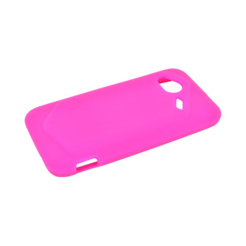 HTC Droid Incredible 4G LTE Silicone Case - Hot Pink