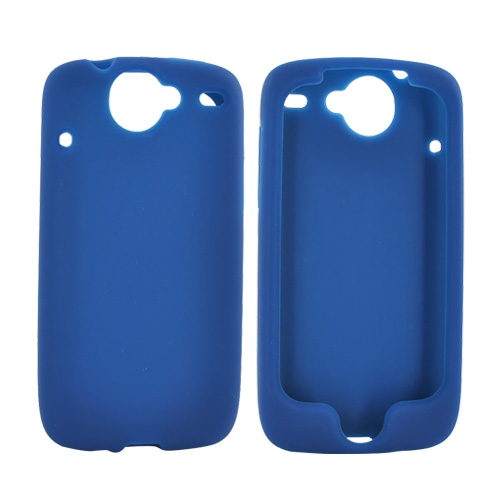 Google Nexus One Silicone Case, Rubber Skin - Blue