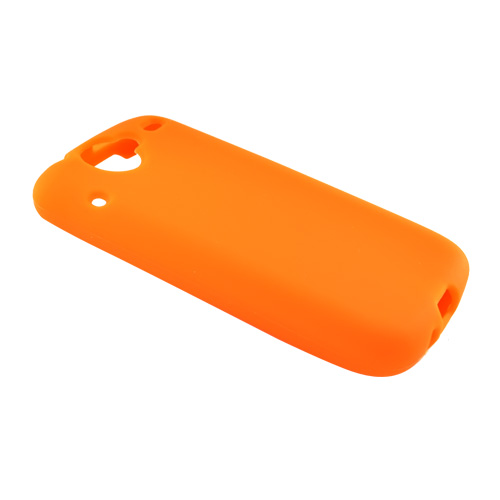 Google Nexus One Silicone Case, Rubber Skin - Orange