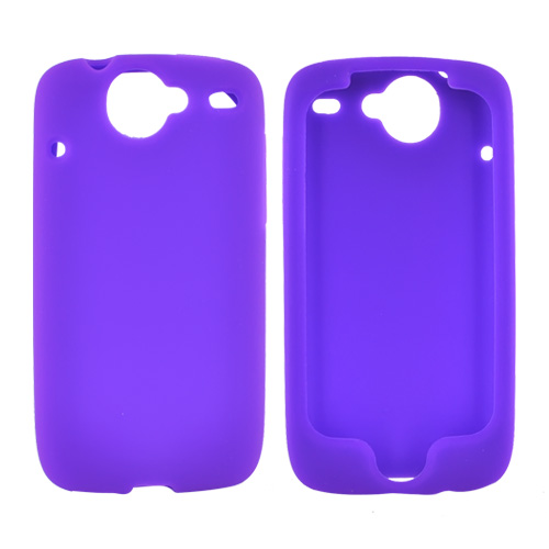 HTC Google Nexus One Silicone Case, Rubber Skin - Purple