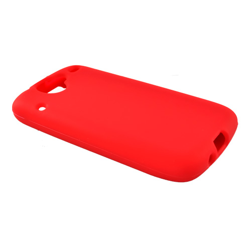 Google Nexus One Silicone Case, Rubber Skin - Red