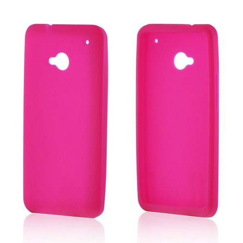 Hot Pink Silicone Case for HTC One