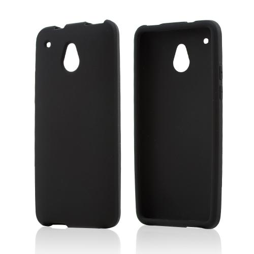 Black Silicone Skin Case for HTC One Mini