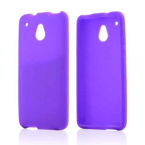 Purple Silicone Skin Case for HTC One Mini