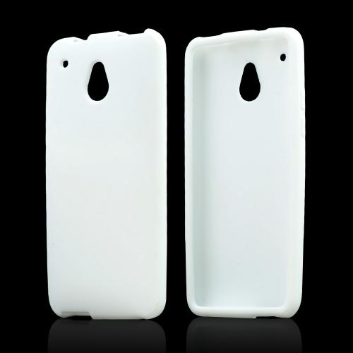White Silicone Skin Case for HTC One Mini