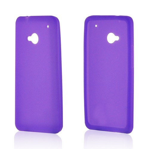 Purple Silicone Case for HTC One