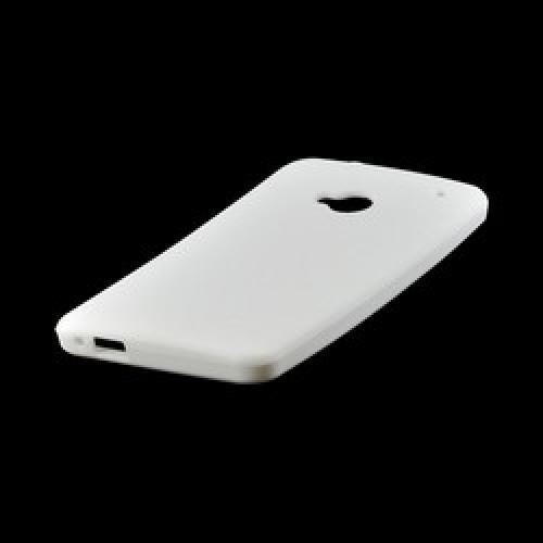 White Silicone Case for HTC One