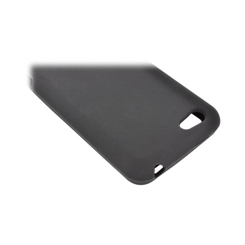 HTC One V Silicone Case - Black