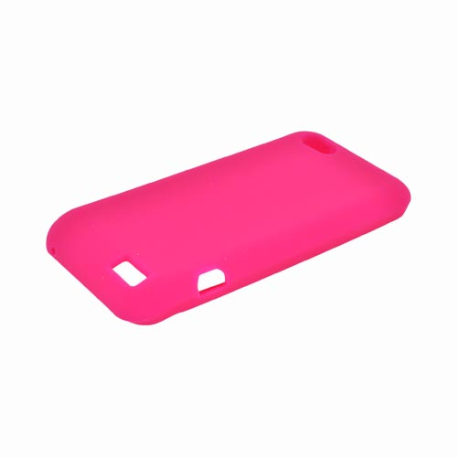 HTC One V Silicone Case - Hot Pink