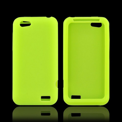 HTC One V Silicone Case - Neon Green