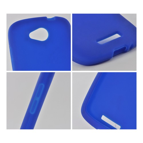 Blue Silicone Case for HTC One VX