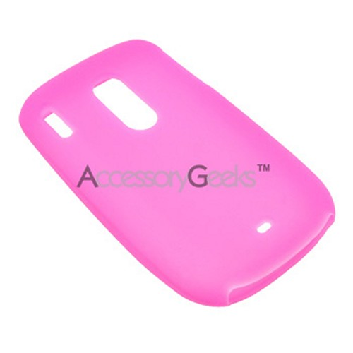 HTC Snap S511 Silicone Case, Rubber Skin - Hot Pink