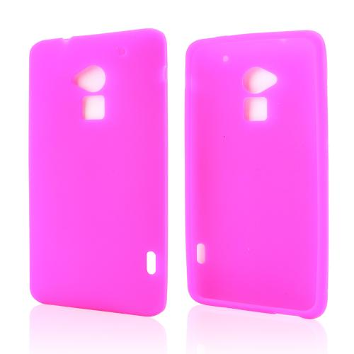 Hot Pink Silicone Skin Case for HTC One Max