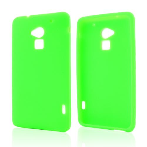 Neon Green Silicone Skin Case for HTC One Max