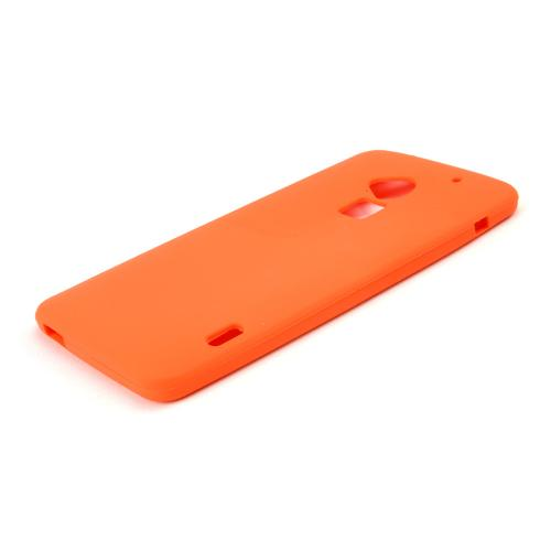 Orange Silicone Skin Case for HTC One Max