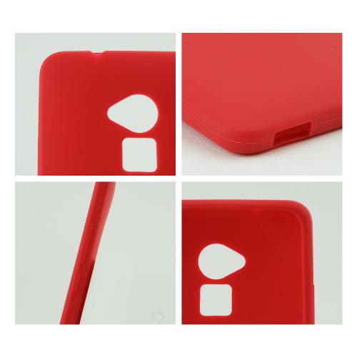 Red Silicone Skin Case for HTC One Max