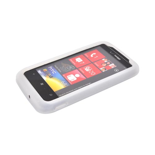 HTC Trophy Silicone Case - Frost White