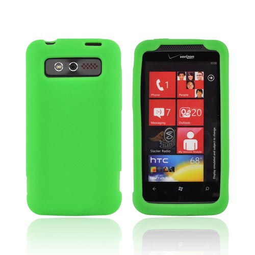 HTC Trophy Silicone Case - Neon Green
