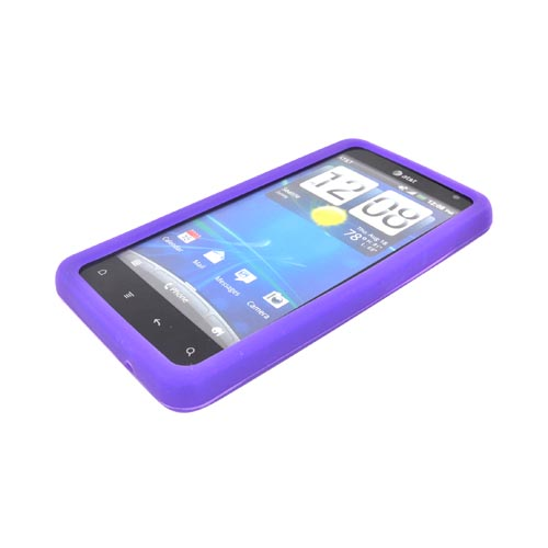 HTC Vivid Silicone Case - Purple