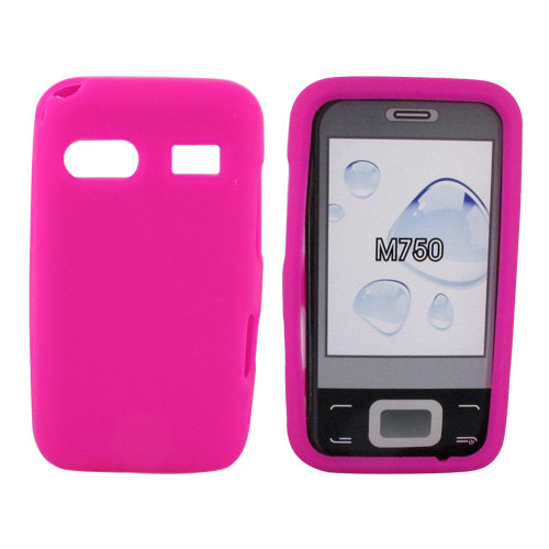 Huawei M750 Silicone Case, Rubber Skin - Hot Pink