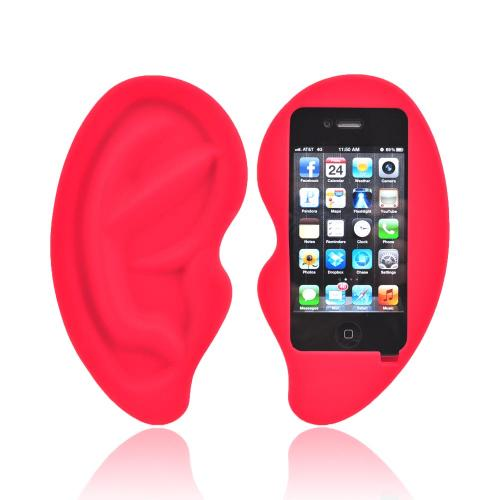 Apple iPhone 4/4S Silicone Case - Red Ear
