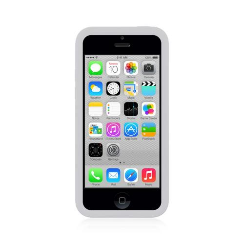 White Silicone Skin Case w/ Holes for Apple iPhone 5C