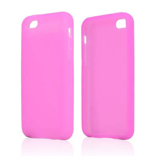 Hot Pink Silicone Skin Case for Apple iPhone 5C