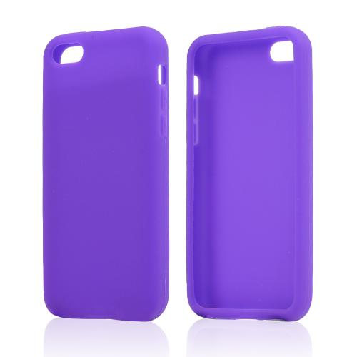 Purple Silicone Skin Case for Apple iPhone 5C