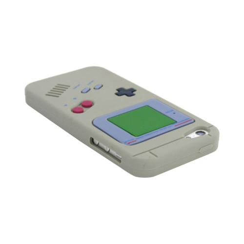 Apple iPhone 5/5S Silicone Case - Gray Retro Gamer