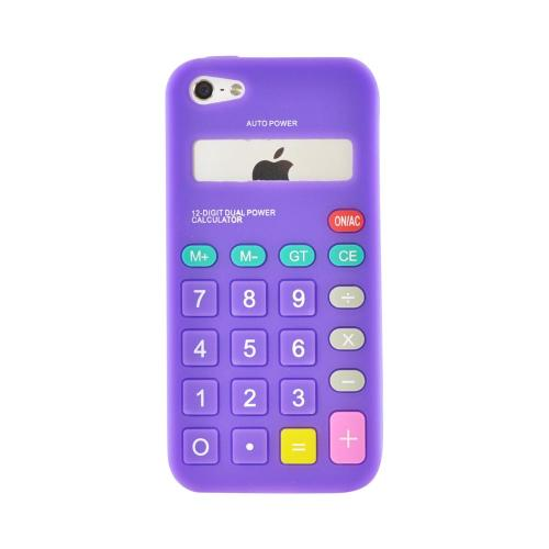 Apple iPhone 5/5S Silicone Case - Purple Calculator