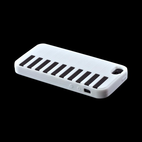 Apple iPhone 5/5S Silicone Case - White Piano