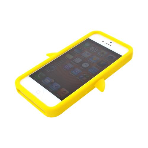 Apple iPhone SE / 5 / 5S  Case,  [Yellow Penguin]  Slim & Flexible Anti-shock Crystal Silicone Protective TPU Gel Skin Case Cover