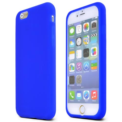 Apple iPhone 6/ 6S Case,  [Blue]  Slim & Flexible Anti-shock Crystal Silicone Protective TPU Gel Skin Case Cover