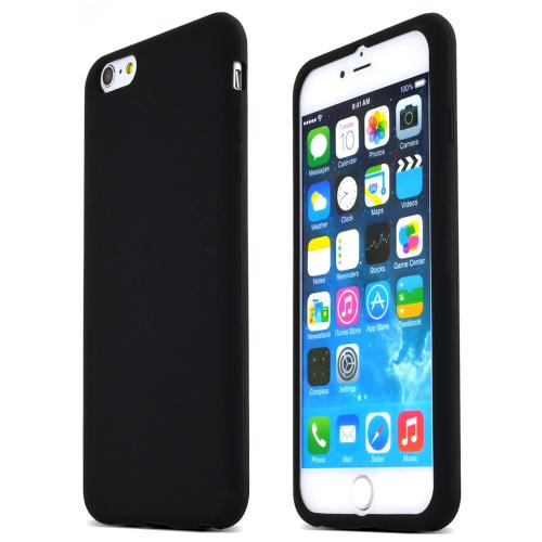 Black Silicone Case Protective Bumper Case w/ Flexible TPU Impact Resistant Material Slim and Perfect Fitting Case Made for Apple iPhone 6 PLUS/6S PLUS (5.5 inch)