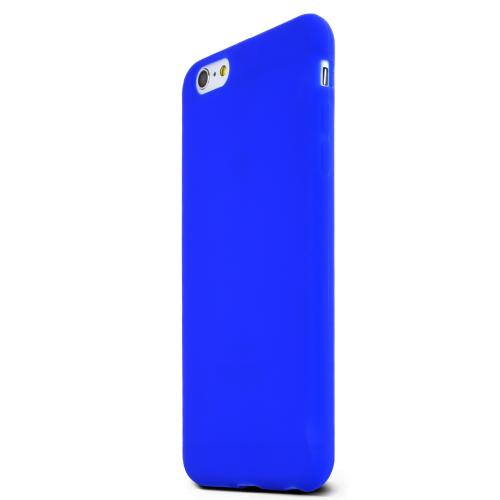 Blue Silicone Case Protective Bumper Case w/ Flexible TPU Impact Resistant Material [Slim and Perfect Fitting Case Made for Apple iPhone 6 PLUS/6S PLUS (5.5 inch)]