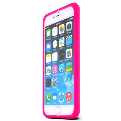 Apple iPhone 6 PLUS/6S PLUS (5.5 inch) Skin [hot Pink] Protective Bumper Case W/ Flexible Tpu Impact Resistant Material [Perfect Fitting Apple iPhone 6 PLUS/6S PLUS (5.5 inch) Case]