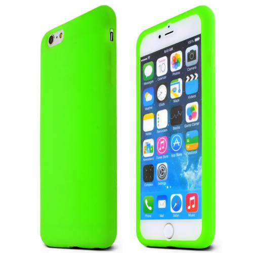 Apple Iphone 6 Plus Skin [neon Green] Protective Bumper Case W/ Flexible Tpu Impact Resistant Material Perfect Fitting Apple Iphone 6 Plus Case]