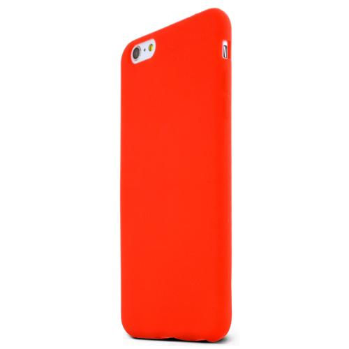Red Silicone Skin Case Made for Apple iPhone 6 (5.5 inch) - Conforms to Your Phone