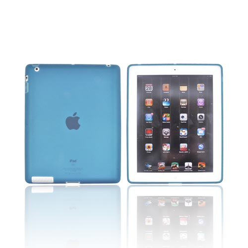 Apple iPad 2, New iPad Crystal Silicone Case - Blue