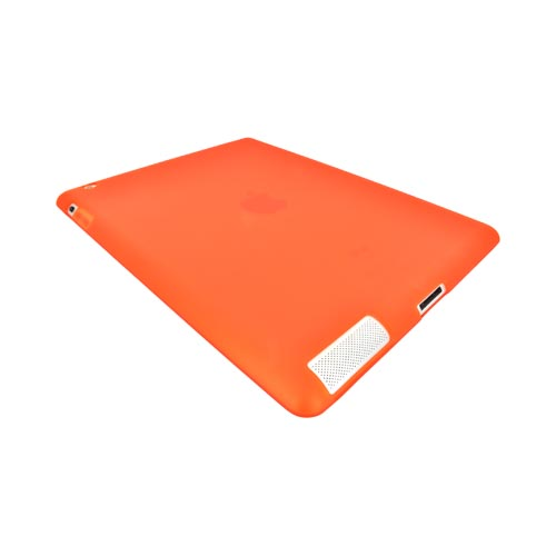 Apple iPad 2, New iPad Crystal Silicone Case - Orange