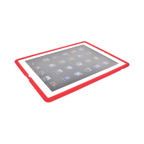 Apple iPad 2, New iPad Silicone Case - Red