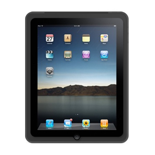 Apple iPad (1st Gen) 1st Silicone Case, Rubber Skin - Black