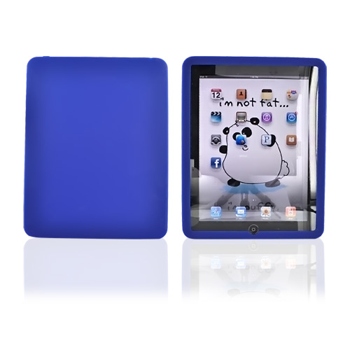 Apple iPad (1st Gen) 1st Silicone Case, Rubber Skin - Dark Blue