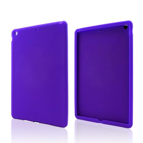 Purple Silicone Skin Case for Apple iPad Air