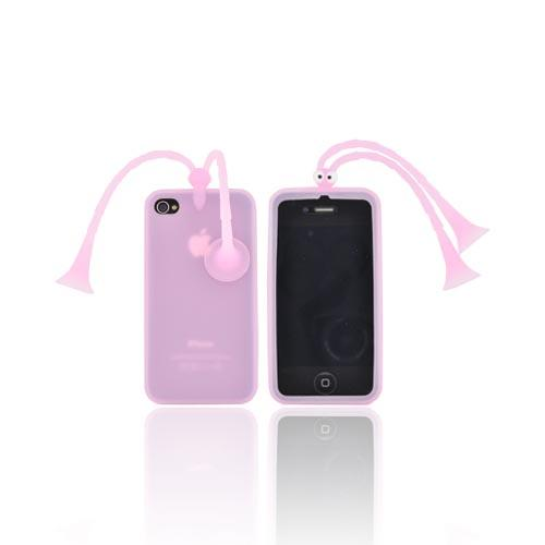 AT&T/ Verizon Apple iPhone 4, iPhone 4S Silicone Case w/ Stand - Pink Bug